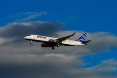Dżetowe Błękitne linie lotnicze zdjęcia stock
