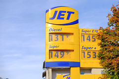 Dżetowe ceny gazu Zdjęcie Stock