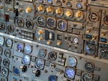 Dżetowego samolotu kokpitu wyposażenie Fotografia Royalty Free