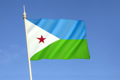 dżibuti flagę Obraz Royalty Free