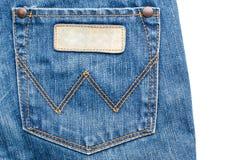 dżinsy pocketsem tekstury włókienniczą Obraz Stock