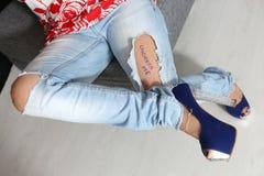 dżinsy www Zdjęcie Royalty Free