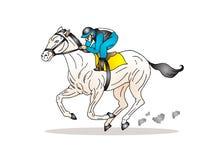 dżokej jego końska jazda ilustracji