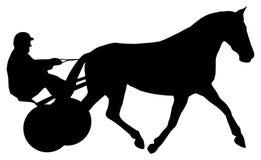 Dżokej na jego koniu podczas końskiej rasy Obrazy Stock