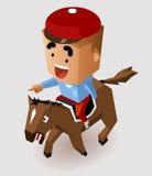 Dżokeja wyścigi konny Fotografia Royalty Free