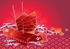 dżonka chiński nowy rok Ilustracja Wektor