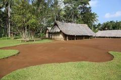 Dżungla bungalow obrazy royalty free