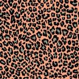 Dżungla safari lamparta egzotyczny wzór Tekstura wielostrzałowy bezszwowy Pomarańczowy czarny zielony kolor ilustracja wektor