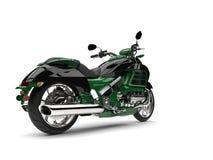 Dżungla zielony nowożytny potężny motocykl - ogonu widok Fotografia Royalty Free
