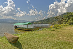 Dżungli łódź Zdjęcie Stock