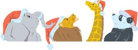 Dżungli boże narodzenia royalty ilustracja
