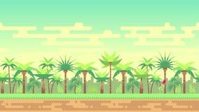 Dżungli drzewek palmowych pętli krajobrazu lasowa bezszwowa animacja zbiory