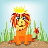 dżungli królewiątka lew Obrazy Royalty Free