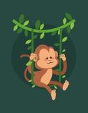 Dżungli małpia kreskówka royalty ilustracja