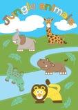 Dżungli zwierzęta. Zdjęcie Royalty Free