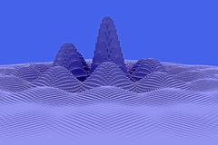 3d一个多山风景的例证 免版税库存图片