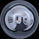 3d一个家庭办公室的例证空间样式的 图库摄影