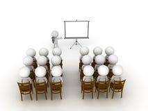 3D一个演说事件或介绍的例证 图库摄影