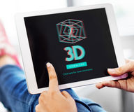 3D三维未来派显示现代概念 库存照片