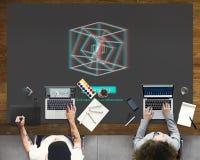 3D三维未来派显示现代概念 免版税库存图片