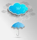 3D与云彩的传染媒介 库存图片