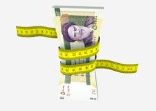 3D与剪刀的伊朗货币 皇族释放例证