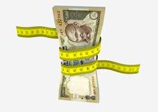 3D与剪刀的印地安货币 皇族释放例证