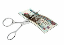 3D与剪刀的埃及货币 皇族释放例证