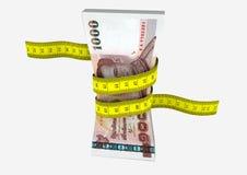 3D与剪刀的泰国货币 库存例证
