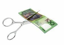 3D与剪刀的澳大利亚货币 皇族释放例证