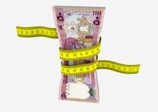 3D与剪刀的阿曼货币 皇族释放例证