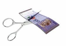 3D与剪刀的马来西亚货币 皇族释放例证