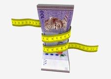 3D与剪刀的马来西亚货币 向量例证