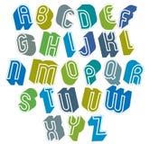 3d与好样式,简单的形状的大胆的信件字母表的字体 免版税图库摄影