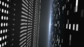 3d与抽象techonology隧道的背景在空间,3d回报事务或技术的例证 股票录像