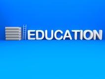 3d与梯子的教育文本 库存图片