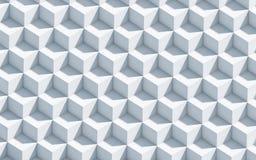 3d与立方体的单色背景 免版税库存图片
