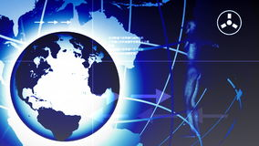 3D与行星的人体 皇族释放例证