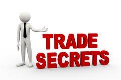 3d与词商业秘密的商人 库存照片