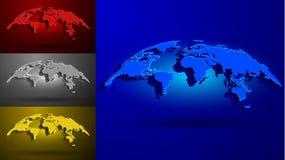 3D世界地图集合 皇族释放例证
