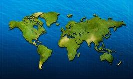 3D世界地图 库存图片
