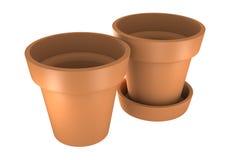 3D两桔子罐 库存照片