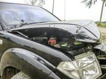 3d事故查出的汽车例证回报了白色 库存照片