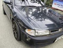 3d事故查出的汽车例证回报了白色 免版税图库摄影