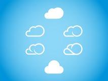 3d云彩图标设计白色 免版税库存照片