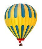 3d五颜六色的热空气气球 免版税库存照片