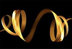 3d五颜六色的画笔冲程丝带螺旋 向量背景 免版税库存图片