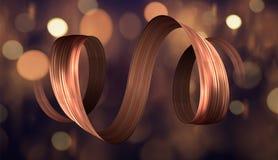 3d五颜六色的画笔冲程丝带螺旋 向量背景 库存照片