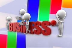 3d人企业例证 库存图片