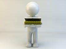 3D人展示金子 免版税库存图片